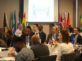 Participants during the high-level conference on